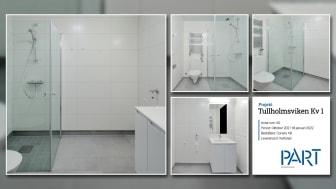 Part levererar 60 badrum till projektet Tullholmsviken Kv1 i Karlstad.