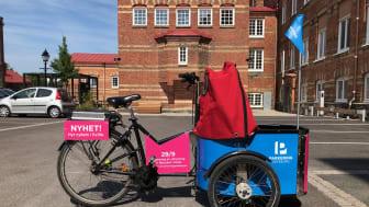 Den 29:e september låser vi upp Göteborgs första lådcykelpool