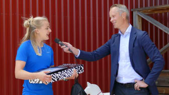 Stina Nilsson och Fredrik Skarp, vd FM Mattsson