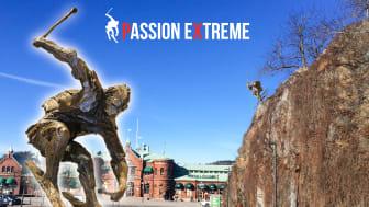 Extrem passion för skidåkning blir skulptur i Borås