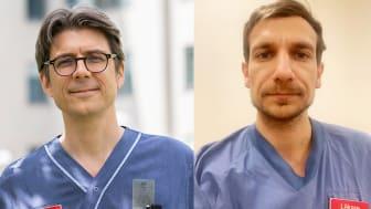 Tobias Alfvén, ordförande i Svenska Läkaresällskapet och Akil Awad, specialistläkare och initiativtagare till Stockholms sjukvårdsupprop.