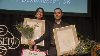 Vinnare i kategorin Årets berättare: Rosa Fernandez & Karwan Faraj