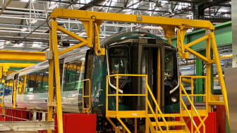 A London Northwestern Railway Class 730 on the production line at Bombardier UK in Derby.