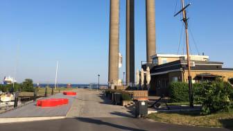 Landskrona vattentorn i stålstass