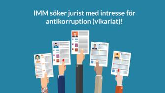 Institutet Mot Mutor (IMM) söker jurist med intresse för antikorruption – vikariat