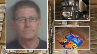 Richard David Curtis hid illicit cigarettes beneath boxes of frozen chips