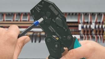 CRIMPFOX VARIO 16S för processäker bearbetning av trådhylsor 6-10mm2 respektive 16mm2