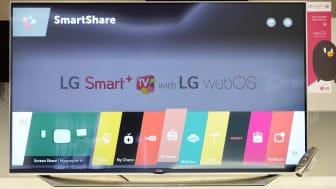 NYA LG SMART-TV MED UPPDATERAT WEBOS PREMIÄRVISAS UNDER CES 2015