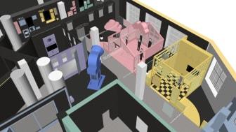Vilken framtid vill du ha? I Digitopia får du reflektera över dina egna åsikter kring digitalisering, robotar och artificiell intelligens. Foto: Arbetets museum.
