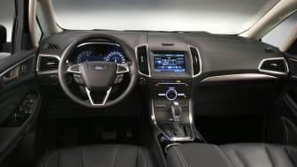 Ford viser ny Galaxy; Luksuriøs 7-seter med mer komfort og praktiske egenskaper, interiørbilde