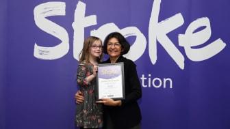 Six–year-old stroke survivor receives regional recognition