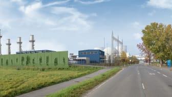 Das neue Gaskraftwerk soll im Oktober 2022 mit einer Leistung von bis zu 300 MW den Betrieb aufnehmen. (Bild: RWE)
