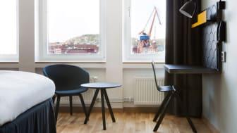 STUDENTBOENDE: Det här rummet på Comfort Hotel Göteborg står klar för en student i höst.
