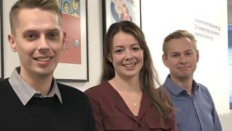 Arvid Sjölund, Josefin Lundquist och Jesper Lindberg tycker att utbildning i privatekonomi för ungdomar är viktigt och bjuder in till föreläsning.