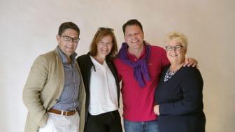 Hans Kreisel, Kristina Sundin Jonsson, Christoffer Svanberg och Maria Marklund. Foto: Johanna Nordin.