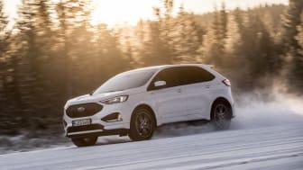 Provkörningen av nya Ford Edge äger rum i svenska Åre.