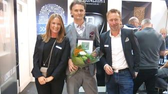 Björn Hultqvist från Designlight, vinnare av Elmässans Innovationspris 2017.