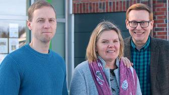 Roger Mikaelsson, Jeanette Viklund och Gunnar Lönnberg är tre av lärarna som jobbar med Erasmusprojektet Connecting Woods på Sjulnäs skola.