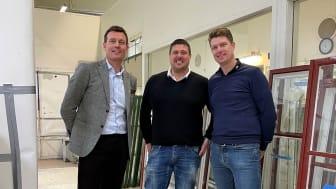 Pål Warolin, Martin Viklander och Peter Johansson.