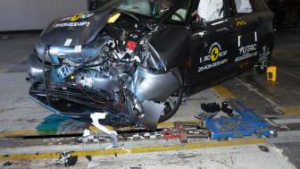 Honda Jazz - Mobile Progressive Deformable Barrier test 2020 - after crash