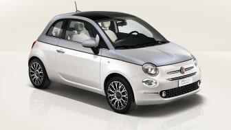Fiat 500 Dolce Vita. Bilen er vist med ekstraudstyr.