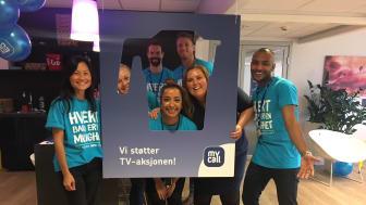 Med fredagsmarkedet samlet MyCall inn over 70 000 kroner blant sine kolleger i Telia Norge.