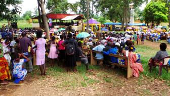 Gudstjänstfirande i Luozi, Kongo Kinshasa