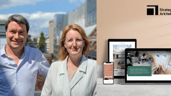 Göran Ekeroth, en av Strategisk Arkitekturs grundare, och VD Johanna Munck berättar om företagets nya identitet och hemsida.
