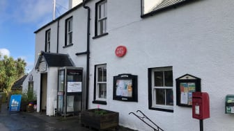Isle of Gigha Post Office which is used for filming Murder Island