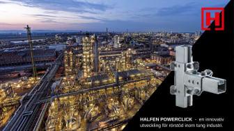 Halfen Powerclick - en innovativ utveckling för rörstöd inom tung industri