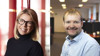 Blockets vd Pernilla Nissler och Kaare Danielsen, grundare av Jobindex