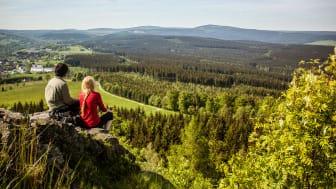 Ausblicke genießen | Kammweg Erzgebirge-Vogtland (Foto: TVE/René Gaens)