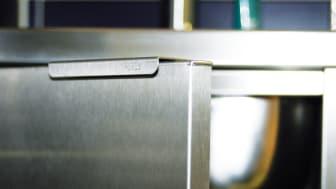 Skåp i rostfritt stål