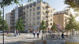 Liljewalls förslag på bostäder i GoCo Health Innovation City för Balder.