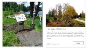 Kulturvägen mellan Stripa och Sjärnfors lyfts fram med hjälp av informationsskyltar och en digital guide.