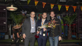 Mathias Augustsson (VD, Mechanum), Anders Dahlén (Försäljningschef, Mechanum) och Niklas Zetterlund (Operations Director, LeasePlan)