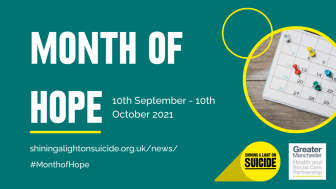Borough to shine a light on suicide and support Greater Manchester's Month of Hope