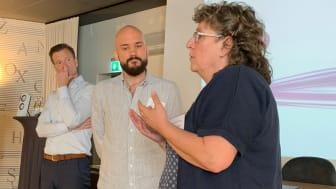 Mats Andersson från MatHem, Johannes Bragazzi och Ann-Christin Drotth från Kävlinge berättade om sina erfarenheter från äldremat och måltider.