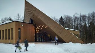 Månedens prosjekt er Montessori-skolen i Drøbak, som svarer ut nær alle de 10 kvalitetsprinsippene til Bygg21 på en imponerende måte. Bilde: Powerhouse/foto: Robin Hayes