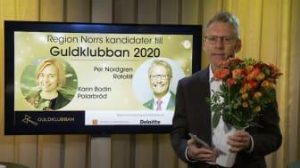 Per Nordgren tävlar för nationella Guldklubban