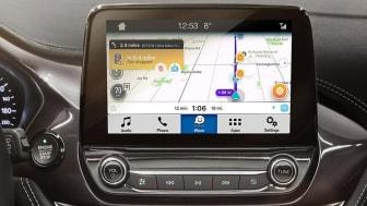 Trafikappen Waze kommer bli tillgänglig för Ford-ägare världen över från och med april 2018.