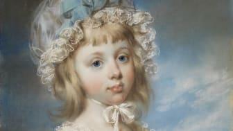 John Russell, Porträtt av lady Georgiana Cavendish, 1790. Foto: Cecilia Heisser/Nationalmuseum.