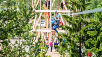 Høyt & Lavt Trysil bygger i år en parkens hittil lengste zip-liner. Foto: Jakob Gjerluff Ager