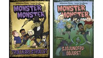 Sjöjungfruodjur och trollkarlstroll terroriserar i nya Monster monster-böcker