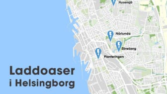 Översikt laddoaser Helsingborg
