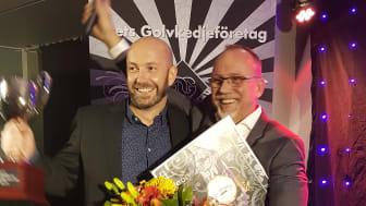 Magnus Andreasson och Johan Nylén - vinnare Årets Golvkedjeföretag 2018