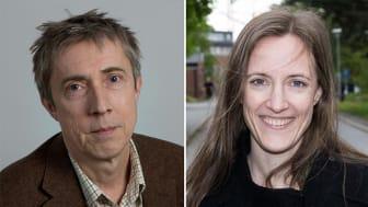 Gunnar Bergström, professor i arbetshälsovetenskap på Högskolan i Gävle, och Lotta Nybergh, forskare på KI.