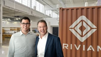 PARTNERE: RJ Scaringe, Rivians grunnlegger og  CEO, og styreformann i  Ford Motor Company, Bill Ford