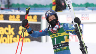 Tommy Ford – mit neuem Ski in Santa Caterina am Podium
