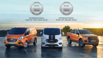 Ford er dobbelt stormester ved International Van of the Year 2020